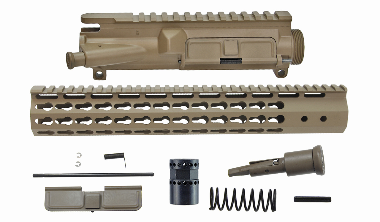 AR-15 Style 7-Sided Upper Receiver Kit w/ FDE cerakote