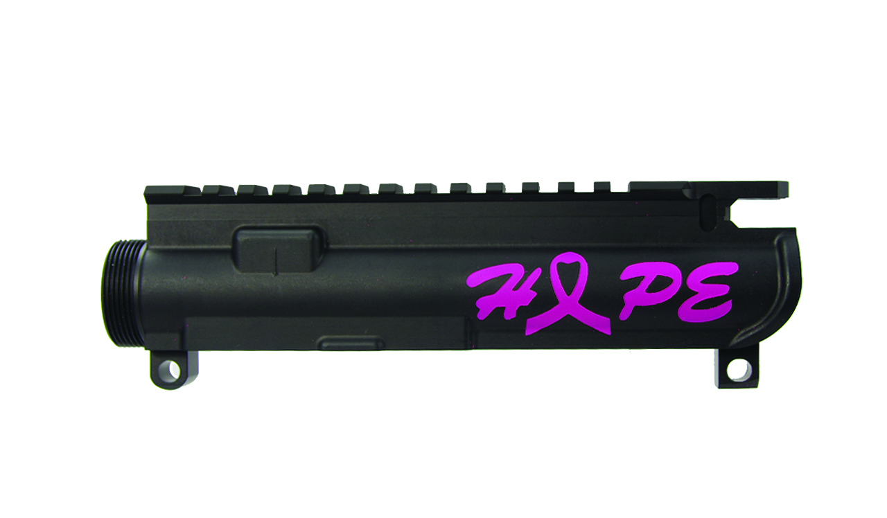 .223/5.56 Upper Receiver With Custom Pink Heart Shaped