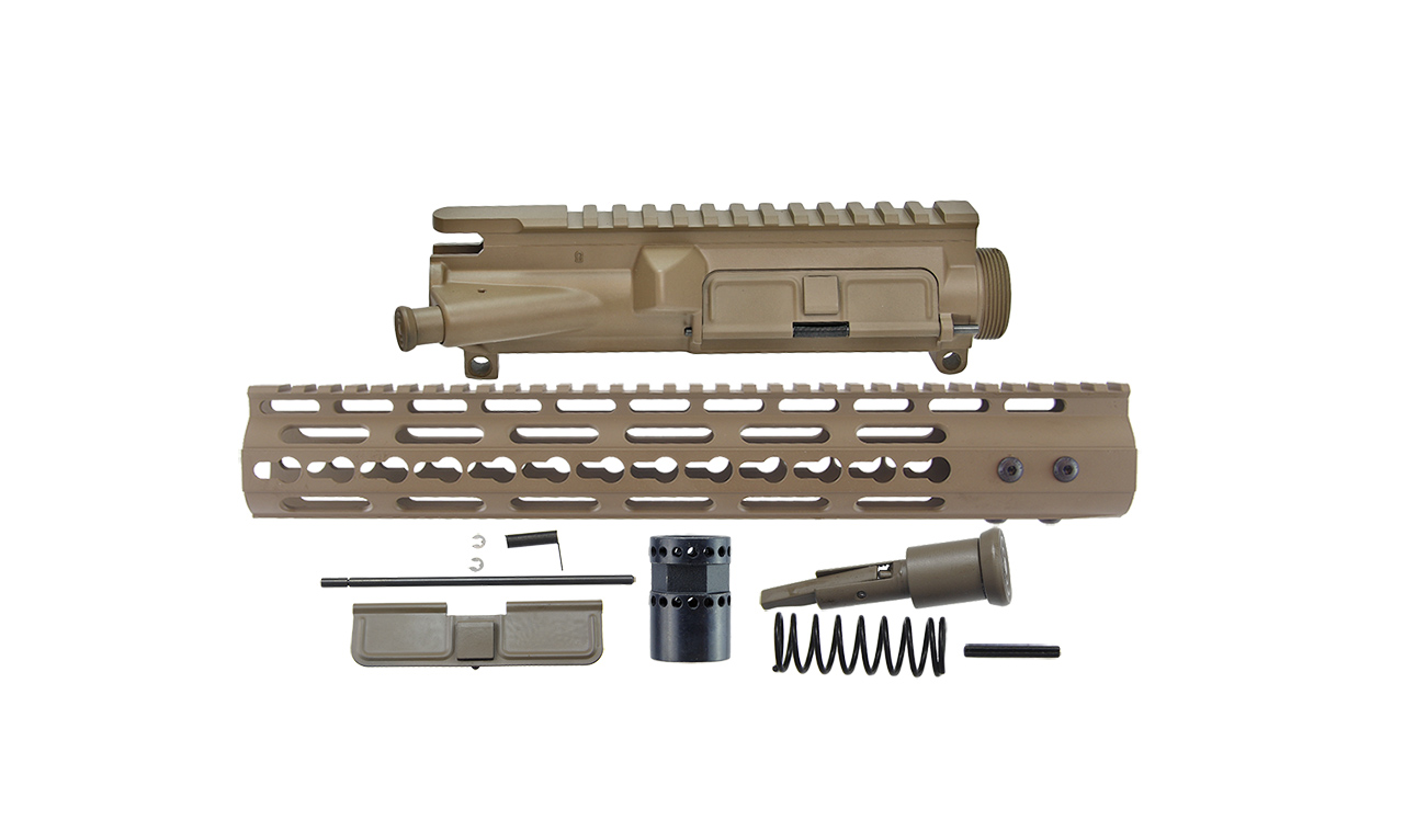 3 Sided Upper Receiver Kit Flat Dark Earth Cerakote