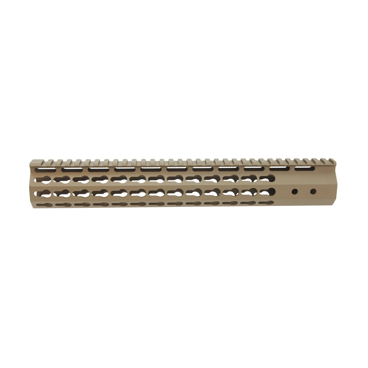 AR15 7 Sided KeyMod Hand Guard Flat Dark Earth Cerakote Finish