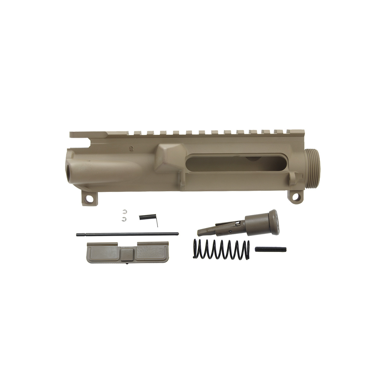 AR15 complete upper receiver w/ forward assist and dust cover, FDE cerakote