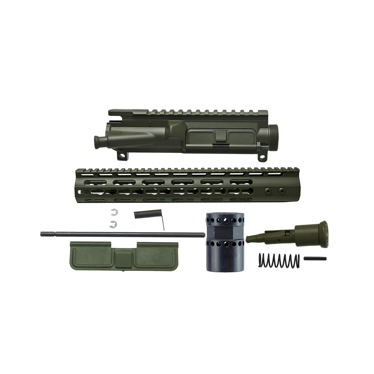 AR15 3 Sided upper receiver Kit, Olive drab green cerakote