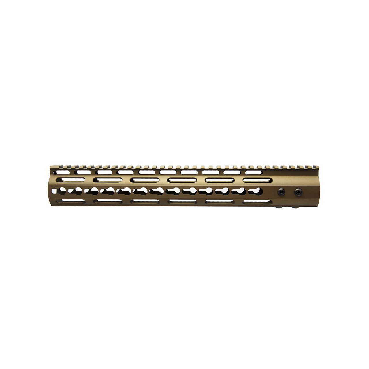 AR15 3 Sided KeyMod Hand Guard, Burnt Bronze Cerakote
