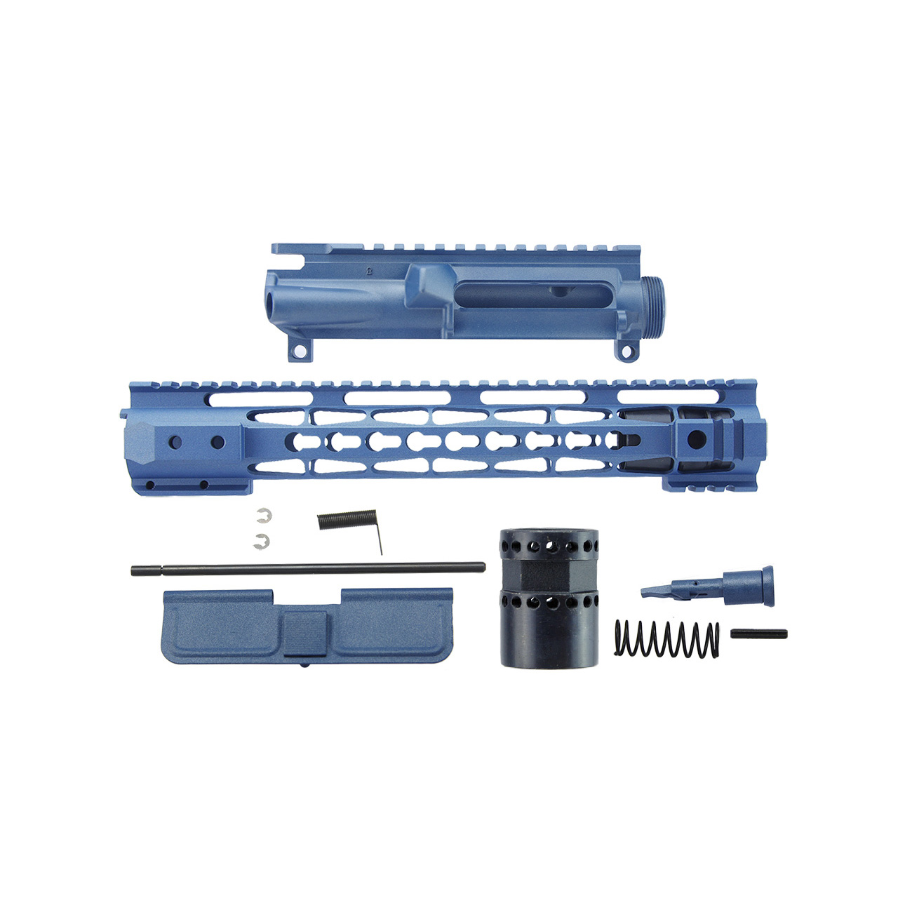 AR15 Clamp on Style Upper Receiver Kit Blue Titanium Cerakote