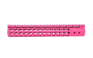 AR15 7 sided KeyMod Hand Guard Sig Pink Cerakote Finish