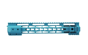 AR15 Clamp on style handguard, robin egg blue cerakote