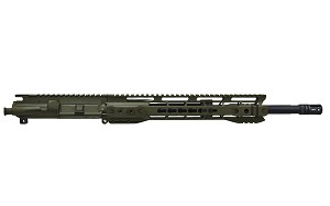 AR15 .300 Blackout 16' Pistol length 1:8 twist w/12' clamp on handguard, OD green cerakote upper assembly