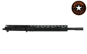 AR15 .300 Blackout 16' Pistol Length 1:8 Twist w/ 13' 3 Sided KeyMod, Black Anodized Upper Assembly