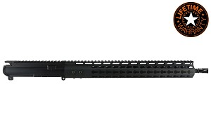 AR15 5.56 NATO 16' carbine length 1:8 twist w/ 15' 7 sided keymod, black anodized upper assembly