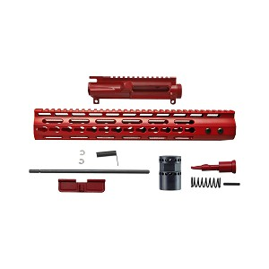 AR15 3 Sided keymod upper receiver Kit, S&W red cerakote