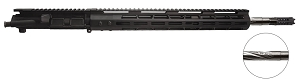 ".223 WYLDE upper,  18"" Stainless Steel Spiral Flute, 1:8 Twist, Mid Length Gas System with 15"" M-Lok handguard"